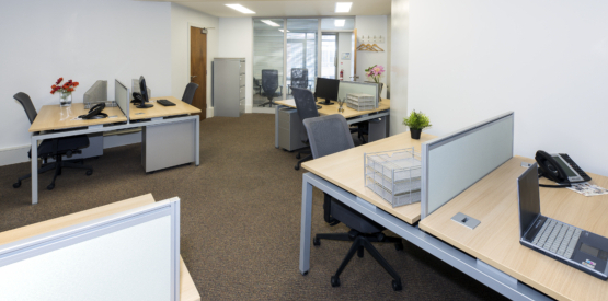 12 Workstation Office with Private Management Suite
